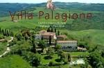 Luftbild der Villa Palagione